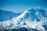 Mt. St. Helens Crater and Rim in Winter, Mt. St. Helens National Volcanic Monument, Washington, US