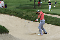 Jon Rahm (ESP) in a bunker at the 2nd green during Sunday's Final Round of the WGC Bridgestone Invitational 2017 held at Firestone Country Club, Akron, USA. 6th August 2017.<br /> Picture: Eoin Clarke | Golffile<br /> <br /> <br /> All photos usage must carry mandatory copyright credit (&copy; Golffile | Eoin Clarke)