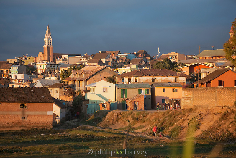 A neighbourhood on the outskirts of the captial city Antananarivo, Madagascar