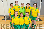 Moyvanne/Knockanure U15 team who won the Community Games Munster Provincial U15 Futsal Final in the IT Tralee Sports Complex on Saturday.<br /> Kneeling l to r: Kelly Enright, Ava Fitzgerald and Tara Enright.<br /> Back l to r: Lauren Duffy, Megan Large, Keira Large, Mary Carney and Nicola Kennelly.
