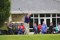 Dermot Fennelly (Mount Juliet) on the 1st tee during the Final round of the Irish Mixed Foursomes Leinster Final at Millicent Golf Club, Clane, Co. Kildare. 06/08/2017<br /> Picture: Golffile | Thos Caffrey<br /> <br /> <br /> All photo usage must carry mandatory copyright credit      (&copy; Golffile | Thos Caffrey)