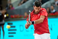 Serbian Novak Djokovic during Mutua Madrid Open Tennis 2016 in Madrid,  May 06, 2016. (ALTERPHOTOS/BorjaB.Hojas) /NortePhoto.com