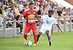 2018-07-14 / Voetbal / Seizoen 2018-2019 / FC Kontich - KFCO Beerschot Wilrijk / Murat Ocak (l. Kontich) met Youad Ndombasi<br /> <br /> ,Foto: Mpics