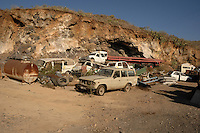 Car scrap heap. San Miguel,Tenerife, Canary Islands.