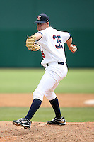April 15, 2009:  Relief pitcher Rob Wooten of the Brevard County Manatees, Florida State League Class-A affiliate of the Milwaukee Brewers, during a game at Space Coast Stadium in Viera, FL.  Photo by:  Mike Janes/Four Seam Images