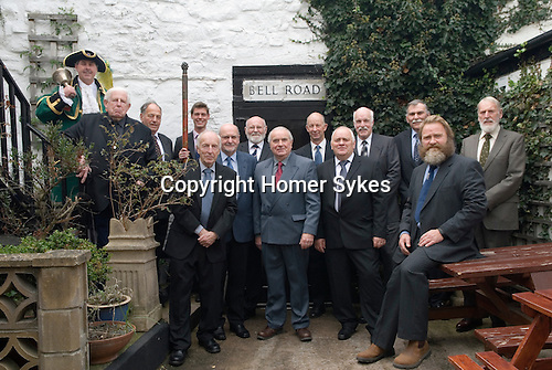 "Court Leet, Watchet, Somerset UK 2014. Annually held on the last Thursday in October at the Bell Inn.Jury Members, land agent Alex Johnson for the Wyndham Estate holding the ""staff"" of Office."