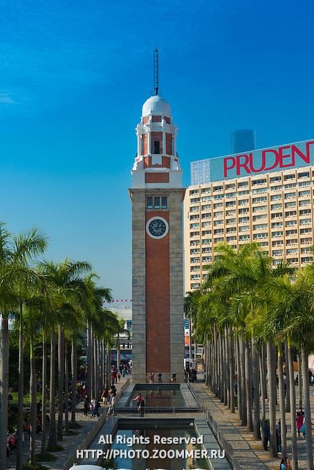 Former Kowloon Railway clock tower In Tsim Sha Tsui, Hong Kong