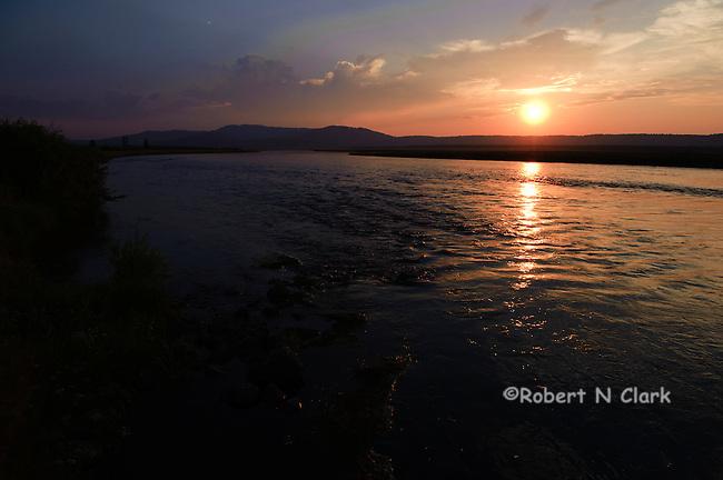 Sunset on the Henry's Fork of the Snake River