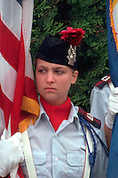 Color guard 17 holding the flag at Vietnam Wall on Memorial Day. St Paul Minnesota USA