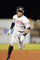 Wisconsin Timber Rattlers infielder Jose Sermo #16 during a game against the Quad Cities River Bandits on May 24, 2013 at Modern Woodmen Park in Davenport, Iowa.  Quad Cities defeated Wisconsin 4-3  (Mike Janes/Four Seam Images)
