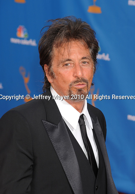 LOS ANGELES, CA. - August 29: Al Pacino  arrives at the 62nd Annual Primetime Emmy Awards held at the Nokia Theatre L.A. Live on August 29, 2010 in Los Angeles, California.