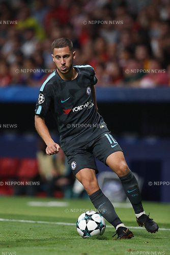 Eden Hazard (Chelsea), SEPTEMBER 27, 2017 - Football / Soccer : UEFA Champions League Mtchday 2 Group C match between Club Atletico de Madrid 1-2 Chelsea FC at the Estadio Metropolitano in Madrid, Spain. (Photo by Mutsu Kawamori/AFLO) [3604]
