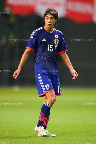 Tatsuya Sakai (JPN), <br /> SEPTEMBER 5, 2014 - Football / Soccer : <br /> KIRIN Challenge Cup 2014 <br /> match between Japan - Uruguay <br /> at Sapporo Dome, Hokkaido, Japan. <br />  (Photo by Yohei Osada/AFLO SPORT) [1156]