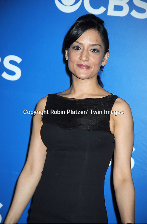 "cast of "" The Good Wife""  Archie Panjabi  attends the CBS Upfront 2012 at The Tent at Lincoln Center in New York City on May 16, 2012."