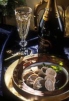 Gastronomie générale / Cuisine générale : Repas de Noël :Boudin blanc au jus périgourdin  et Champagne Blanc de Blanc