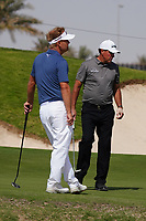 Soren Kjeldsen (DEN) and Phil Mickelson (USA) on the 8th during Round 3 of the Saudi International at the Royal Greens Golf and Country Club, King Abdullah Economic City, Saudi Arabia. 01/02/2020<br /> Picture: Golffile | Thos Caffrey<br /> <br /> <br /> All photo usage must carry mandatory copyright credit (© Golffile | Thos Caffrey)