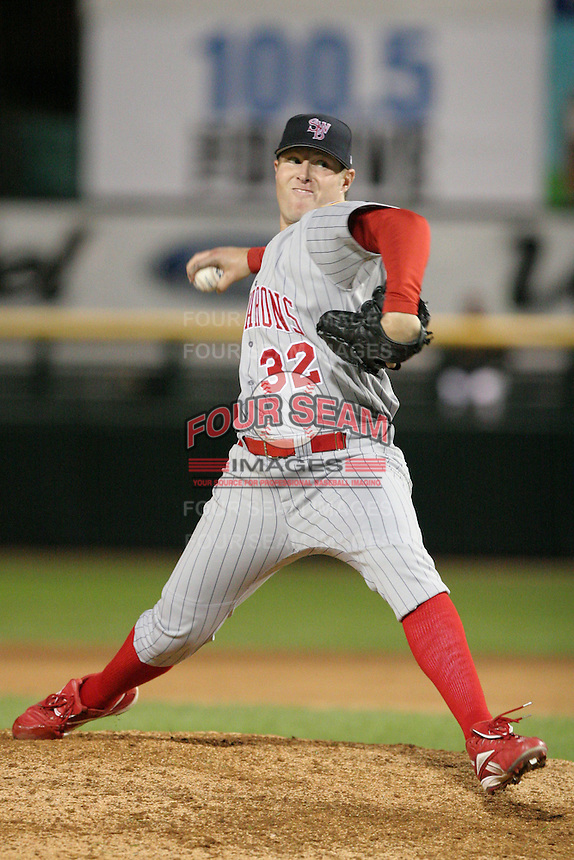 Scranton Wilkes-Barre Red Barons Jeremy Cummings delivers a pitch during an International League game at Frontier Field on September 3, 2006 in Rochester, New York.  Cummings pitched a no-hitter defeating the Red Wings 5-0.  (Mike Janes/Four Seam Images)