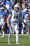 October 22, 2016 - Colorado Springs, Colorado, U.S. -   Hawaii quarterback, Dru Brown #19, during the NCAA Football game between the University of Hawaii Rainbow Warriors and the Air Force Academy Falcons, Falcon Stadium, U.S. Air Force Academy, Colorado Springs, Colorado.  Hawaii defeats Air Force in double overtime 43-27.