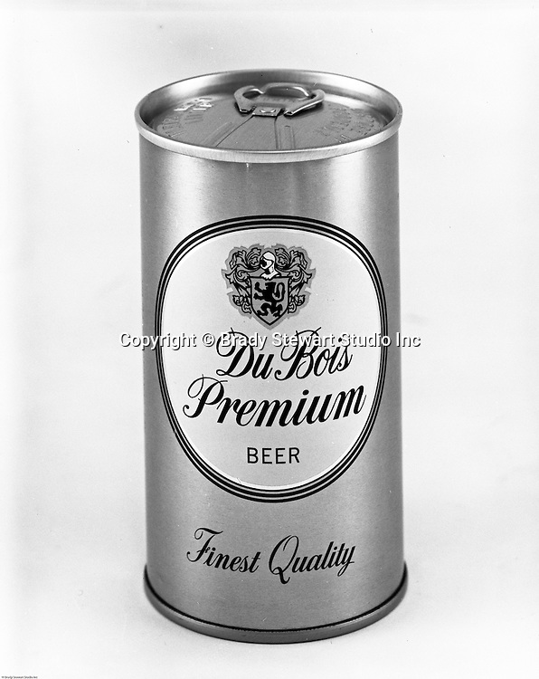 Client: DuBois Brewing<br /> Ad Agency: Thompson &amp; Matelan Inc<br /> Contact: <br /> Product: DuBois Premium Beer<br /> Location: Brady Stewart Studio, 211 Empire Building in Pittsburgh   <br /> <br /> Studio photography of a Du Bois Premium Been Can. Frank Hahne founded the business in 1896 in Clearfield County PA (Northwest PA). The brewery promoted two main products; DuBois Export Beer and DuBois Premium Beer. Frank Hahne Jr. sold the brewery to Pittsburgh Brewing in 1967. Five years later,in May of 1972, the brewery was closed.