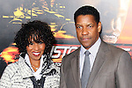 "PAULETTA PEARSON, DENZEL WASHINGTON. Twentieth Century Fox world premiere of Tony Scott's action-thriller, ""Unstoppable,"" at the Regency Village Theater in Westwood. Los Angeles, CA, USA. October 26, 2010. ©CelphImage"