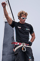 IBIZA, SPAIN - 3 JUL:  Quantum Racing's bowman gestures during day two of Royal Cup at Marina Ibiza on July 03rd 2013 in Ibiza, Spain. Photo by Xaume Olleros / 52 Super Series