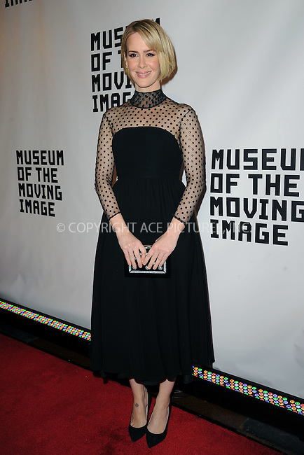 WWW.ACEPIXS.COM<br /> January 20, 2015 New York City<br /> <br /> Sarah Paulson attending the Museum of The Moving Image honors Julianne Moore at 583 Park Avenue on January 20, 2015 in New York City.<br /> <br /> Please byline: Kristin Callahan/AcePictures<br /> <br /> ACEPIXS.COM<br /> <br /> Tel: (212) 243 8787 or (646) 769 0430<br /> e-mail: info@acepixs.com<br /> web: http://www.acepixs.com