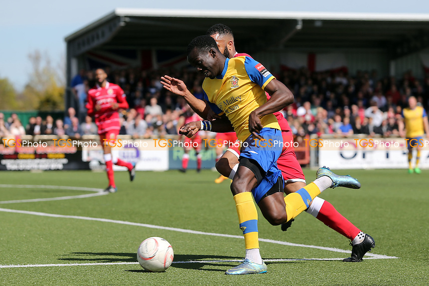 Tambeson Eyong of AFC Hornchurch during Harlow Town vs AFC Hornchurch, Ryman League Divison 1 North Play-Off Final Football at The Harlow Arena on 1st May 2016