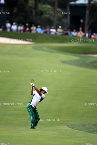 Ryo Ishikawa (JPN),JUNE 18th, 2011 - Golf :Ryo Ishikawa of Japan hits his approach shot on the 15th hole during the third round for the 2011 U.S. Open golf tournament at Congressional Country Club in Bethesda, Maryland, (Photo by Koji Aoki/AFLO SPORT)