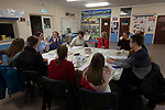 Local Trust Journalist-at-large Louise Tickle interviewing members of We Will, an advocacy group established by young people to campaign for better youth mental health services in Cumbria, pictured in Maryport, where they meet regularly.