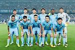 Jiangsu FC squad pose for team photo during the AFC Champions League 2017 Round of 16 match between Jiangsu FC (CHN) vs Shanghai SIPG FC (CHN) at the Nanjing Olympic Stadium on 31 May 2017 in Nanjing, China. Photo by Marcio Rodrigo Machado / Power Sport Images