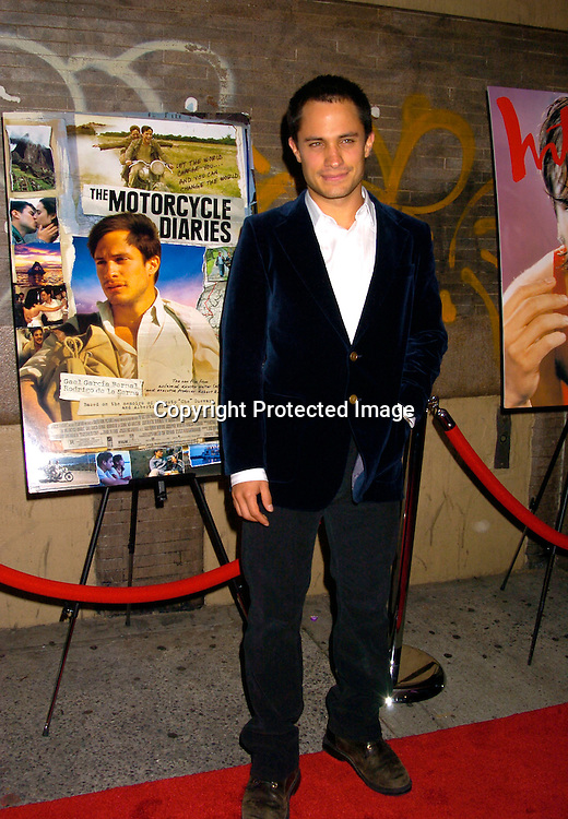 Gael Garcia Bernal ..at the New York Premiere of Motorcycle Diaries on September 20, 2004 at the Loews 19th Street Theatre. ..Photo by Robin Platzer, Twin Images