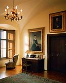 AUSTRIA, Bernstein, an interior shot of a hotel room at the Burg Bernstein Castle, Burgenland