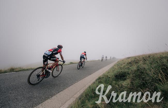 Greg Van Avermaet (BEL/BMC) descending the Port de Bal&egrave;s (HC/1755m/11.7km/7.7%)<br /> <br /> 104th Tour de France 2017<br /> Stage 12 - Pau &rsaquo; Peyragudes (214km)