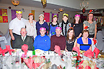 Staff from O'Shea's Xl Store & Arro Hardware Deelis, Cahersiveen at their Christmas Party in the Ring of Kerry Hotel on Friday night pictured front l-r; Bat O'Shea, James Moran, John O'Shea, Áine Kelleher, Catherine Kelleher, back l-r; Michael O'Sullivan, Joan O'Connor, Josephine O'Connell, Siobhan O'Sullivan, Angela Kelly, Helena Minihane & Carmel Sugrue.