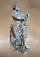 Roman stuate from the time of Hadrian of the muse Tersichore, inv 308, Vatican Museum Rome, Italy,  art background