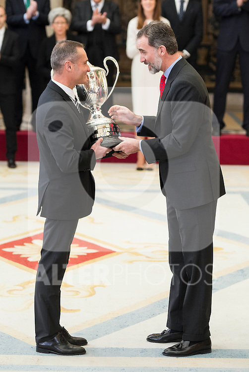 King Felipe VI attends to the National Sports Awards 2015 at El Pardo Palace in Madrid, Spain. January 23, 2017. (ALTERPHOTOS/BorjaB.Hojas)