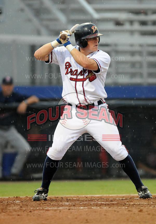 July 15, 2009: Infielder Jordan Kreke (19) of the Danville Braves, rookie Appalachian League affiliate of the Atlanta Braves, in a game at Dan Daniel Memorial Park in Danville, Va. Photo by:  Tom Priddy/Four Seam Images