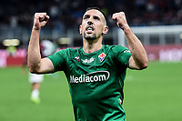 Franck Ribery of Fiorentina celebrates after scoring the goal of 0-3 <br /> Milano 29/09/2019 Stadio Giuseppe Meazza <br /> Football Serie A 2019/2020 <br /> AC Milan - ACF Fiorentina   <br /> Photo Image Sport / Insidefoto