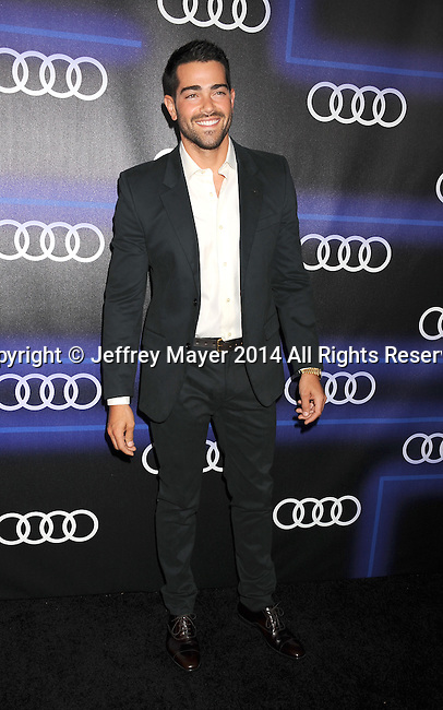LOS ANGELES, CA- AUGUST 21: Actor Jesse Metcalfe arrives at the Audi Emmy Week Celebration at Cecconi's Restaurant on August 21, 2014 in Los Angeles, California.