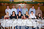 Ringing in the new year at Leen's Hotel, Abbeyfeale were front l-r Sinead Geoghegan, Betty  Kelly, Frances Kelly, Eilish Lucy  and Margaret Geoghegan.  Back l-r Billy McKenna, Jim Kelly, Leo Geoghegan, Tim Kelly, Timmy Kelly and John Geoghegan.