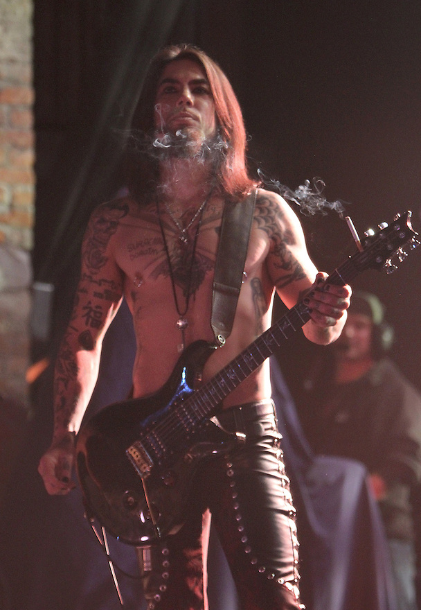 Musician Dave Navarro is seen performing on stage at the Jane's Addiction Concert at The Paramount in Huntington in New York, on Sunday, Mar. 4, 2012. (AP Photo/ Donald Traill)