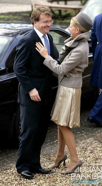 Prince Johan-Friso & Princess Mabel of the Netherlands attend the Christening of Crown Prince Willem-Alexander & Crown Princess Maxima's daughter Princess Alexia at the Dorpskerk in Wassenaar..