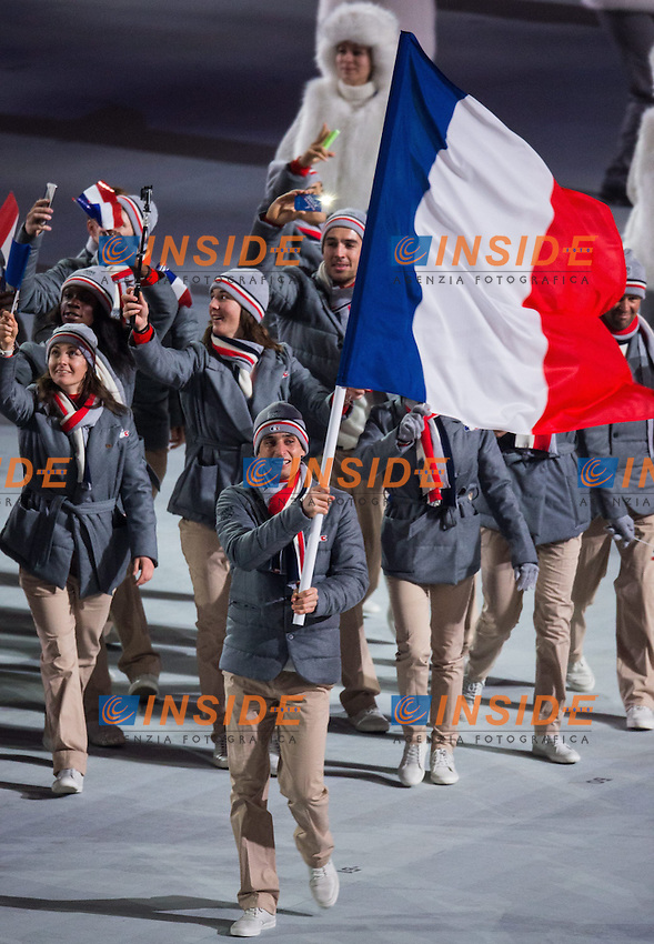 Francia <br /> 07.02.2014, Olympiastadion Fischt, Adlerer<br /> Cerimonia Inaugurale Apertura <br /> Sochi 2014 Olimpiadi Invernali. Olympic Winter Games <br /> Foto EXPA/ Insidefoto