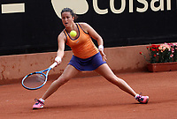 BOGOTÁ -COLOMBIA, 11-04-2018:Lara Arruabarrena de España  ,durante el Claro Open Colsánitas WTA  international event que se juega en El Club Los Lagartos al norte de la Capital ./ Lara Arruabarrena of Spain, during the Claro Open Colsánitas WTA international event that is played at El Club Los Lagartos north of the Capital. Photo: VizzorImage/ Felipe Caicedo / Staff
