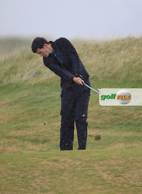 Evan Farrell (Ardee) on the 14th fairway during the South of Ireland Amateur Open Championship Third Round at Lahinch Golf Club  29th July 2013 <br /> Picture:  Thos Caffrey / www.golffile.ie