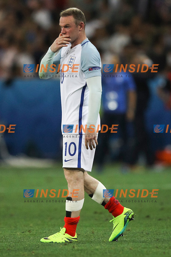 Wayne Rooney of England dejection delusione<br /> Nice 27-06-2016 Stade de Nice <br /> Football Euro2016 England - Iceland / Inghilterra - Islanda Round of 16 / Ottavi di finale Foto Daniel Chesterton PHC / Panoramic / Insidefoto
