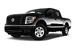 Stock pictures of low aggressive front three quarter view of 2017 Nissan Titan S-Crew 4 Door Pickup Low Aggressive