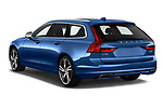 Car pictures of rear three quarter view of a 2018 Volvo V90 R-Design AWD T6  5 Door Wagon angular rear