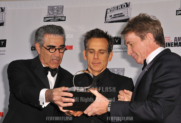 Eugene Levy (left), Ben Stiller & Martin Short at the 26th Annual American Cinematheque Awards Ceremony honoring Ben Stiller at the Beverly Hilton Hotel..November 15, 2012  Beverly Hills, CA.Picture: Paul Smith / Featureflash
