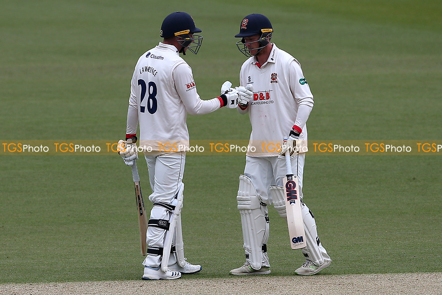 Daniel Lawrence and Tom Westley enjoy a useful partnership for Essex during Surrey CCC vs Essex CCC, Specsavers County Championship Division 1 Cricket at the Kia Oval on 12th April 2019